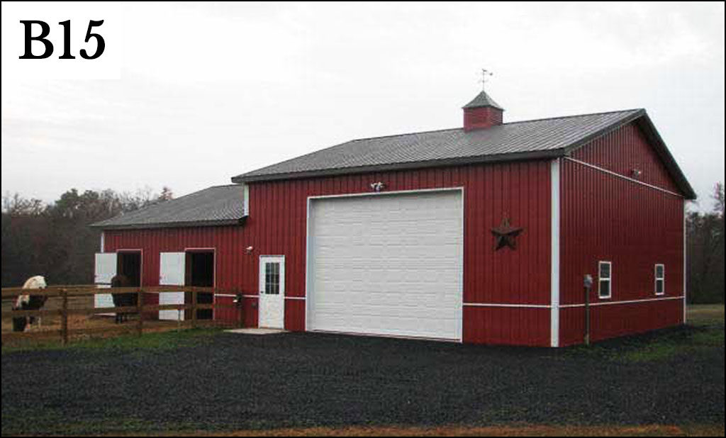 custom pole barn b15