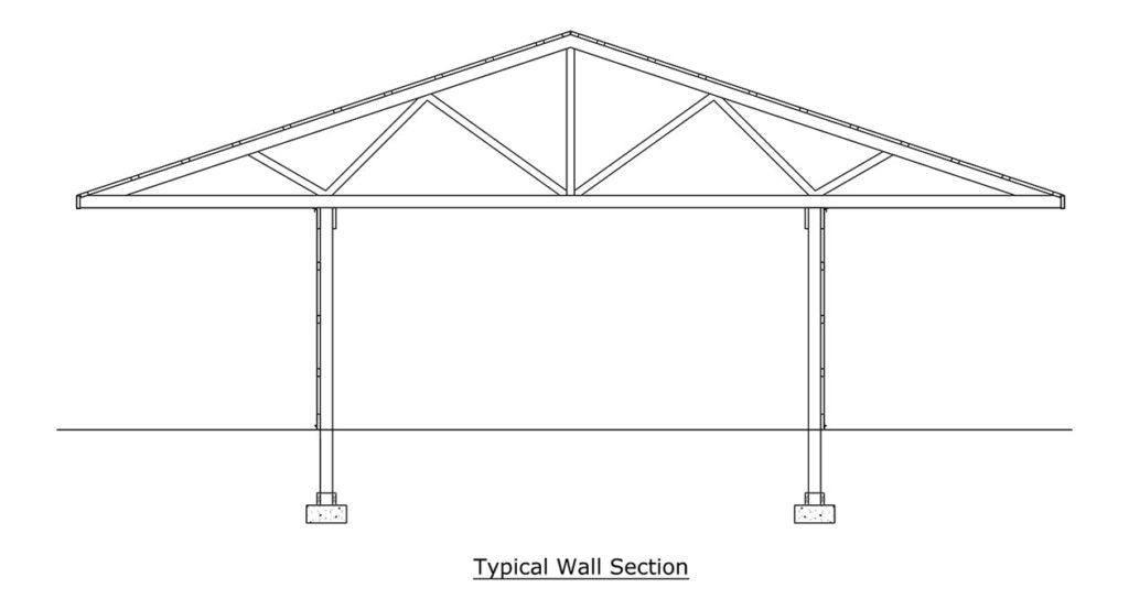 pole barn framing diagram